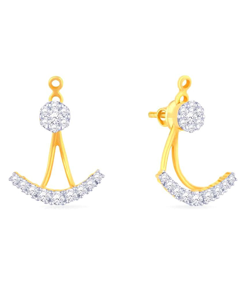 Malabar Gold and Diamonds 18k BIS Hallmarked Yellow Gold Studs