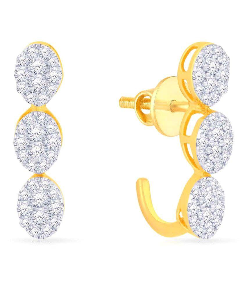 Malabar Gold and Diamonds 18k BIS Hallmarked Yellow Gold Studs
