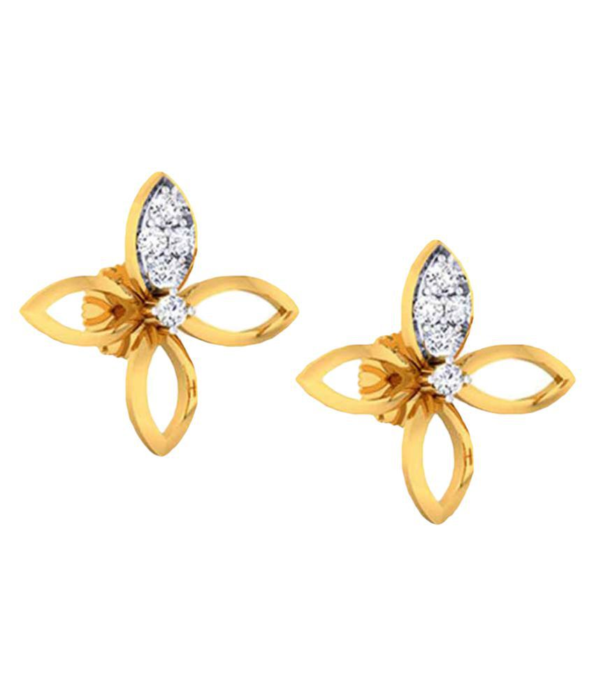 New Kataria Jewellers 14k Gold Studs