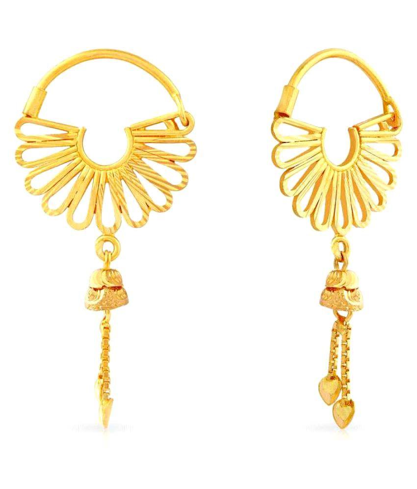 Malabar Gold and Diamonds 22k BIS Hallmarked Yellow Gold Hangings