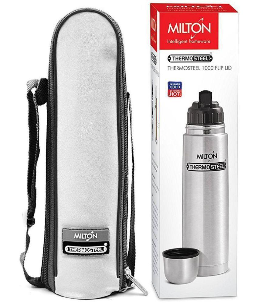 Milton Thermosteel Flip Lid Steel Flask - 500 ml