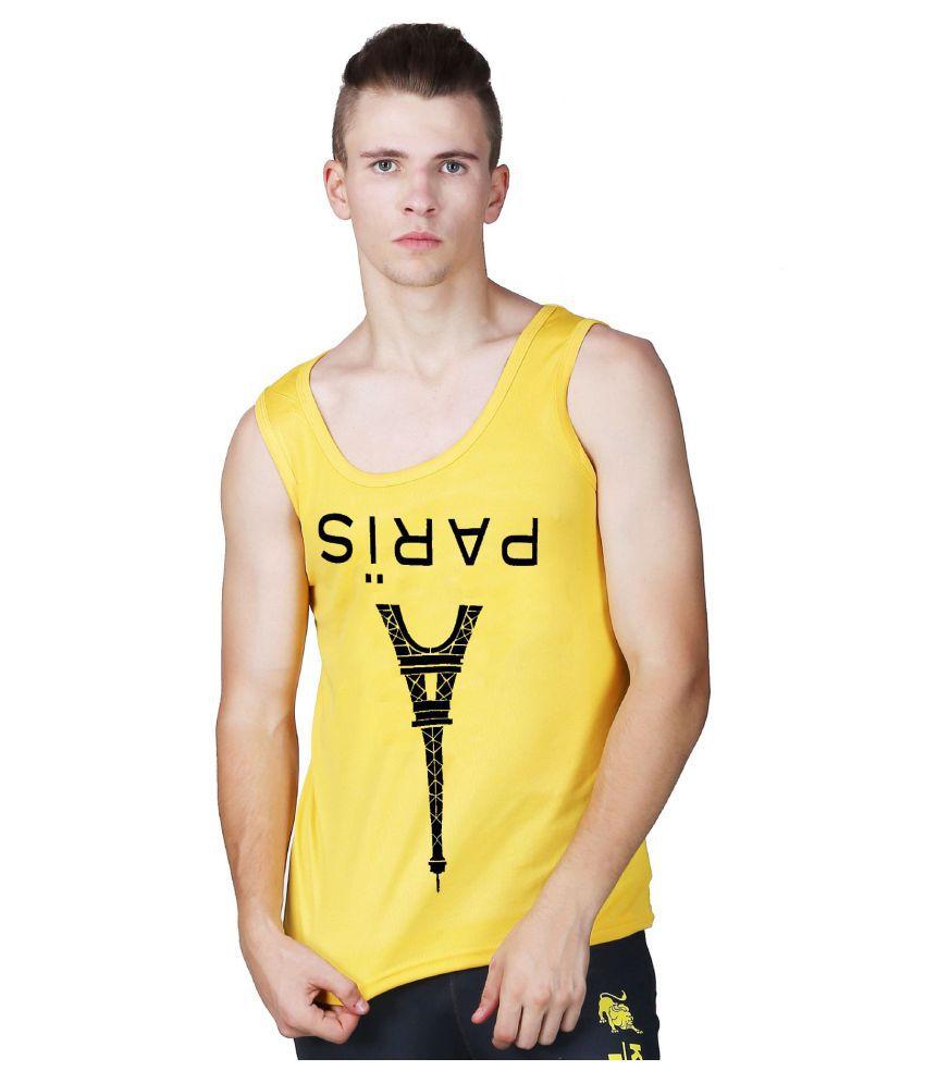 L'appel Du Vide Yellow Polyester T-Shirt