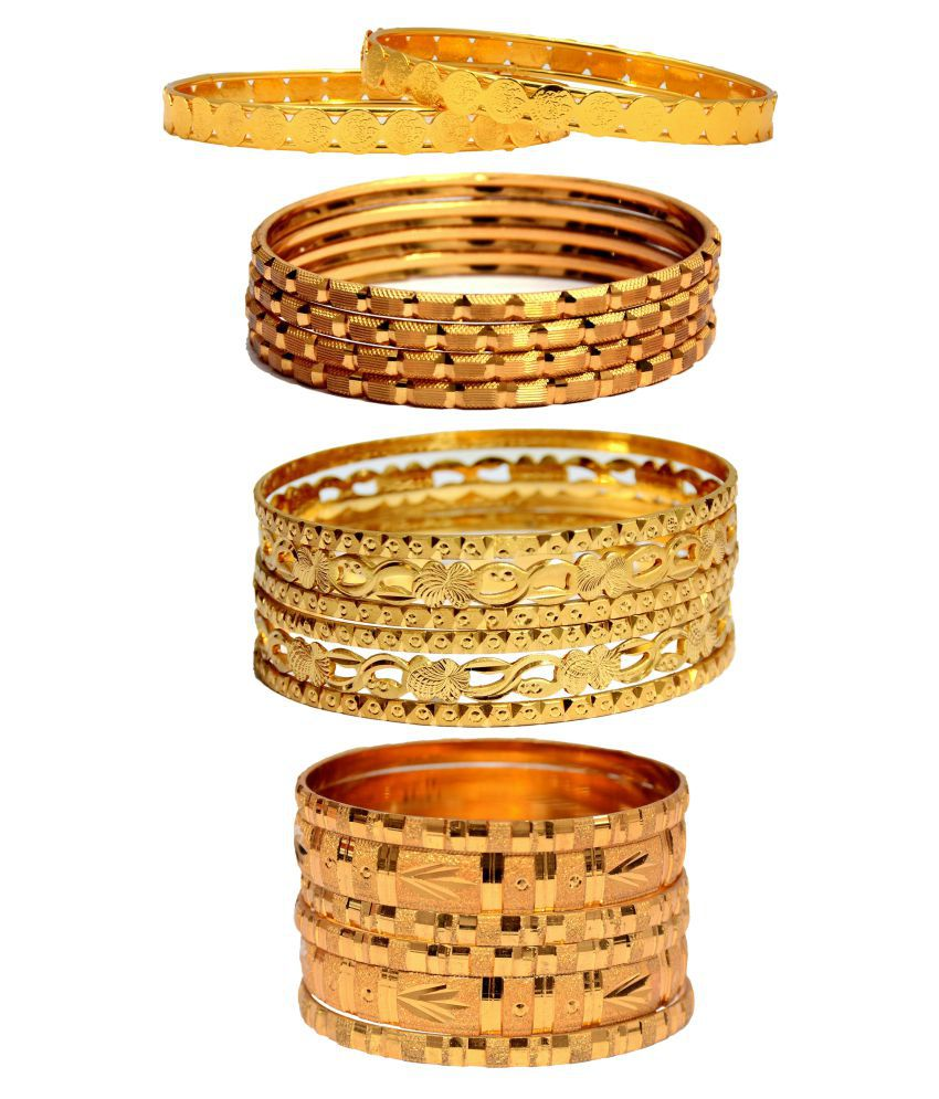 Mansiyaorange Designer Golden Bangles Sets