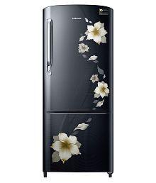 Samsung 192 Ltr 3 Star RR20M272ZB2/NL Single Door Refrigerator - Star Flower Black