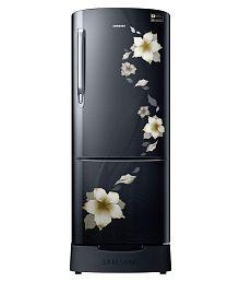 Samsung 192 Ltr 3 Star RR20M282ZB2/NL Single Door Refrigerator - Star Flower Black