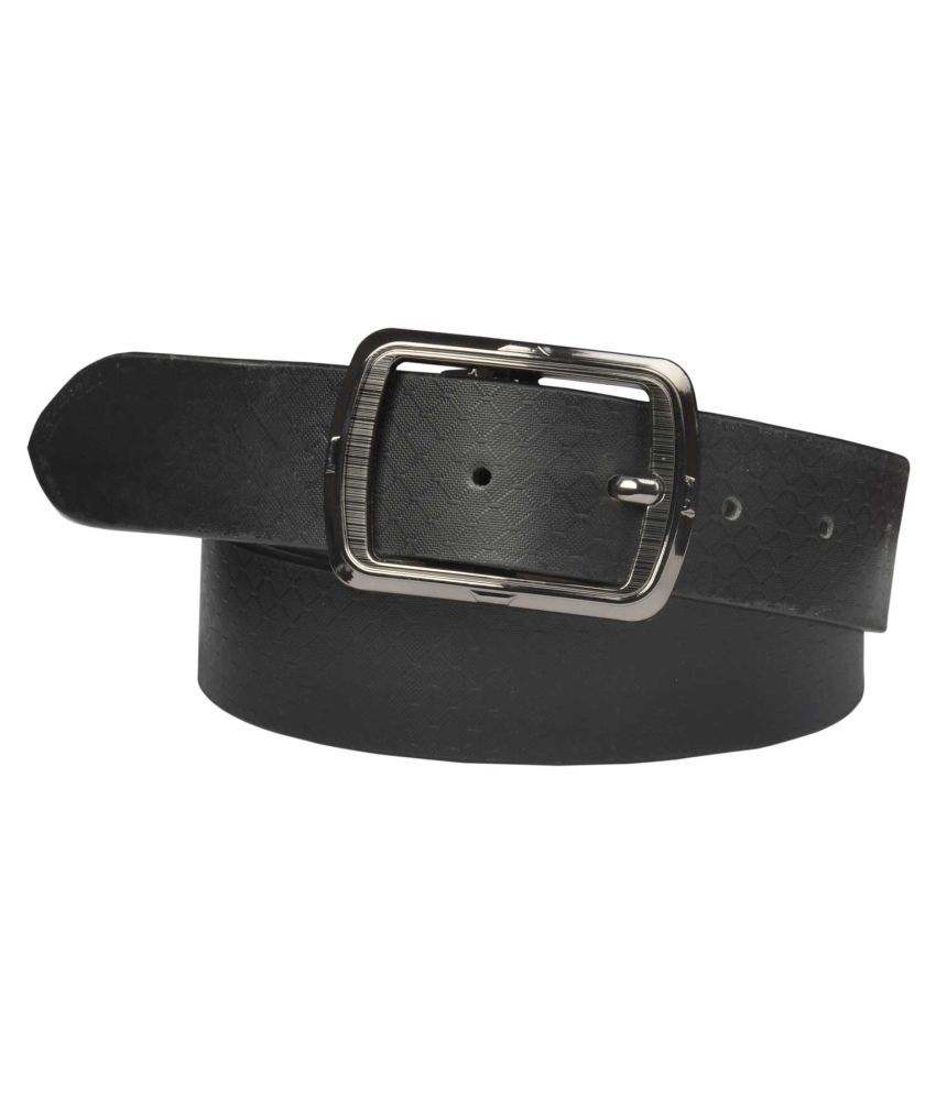 Saugat Traders Black Faux Leather Casual Belts