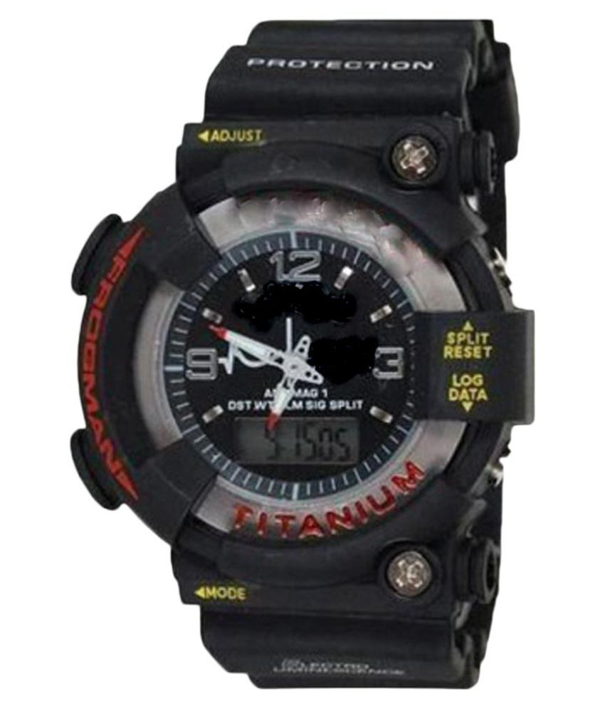 Majorzone Black Analog Digital Watch available at SnapDeal for Rs.315