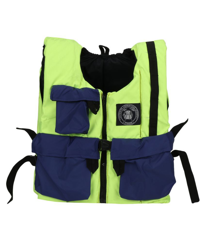 Stikage Nylon Unisex Green Sports Lifejacket