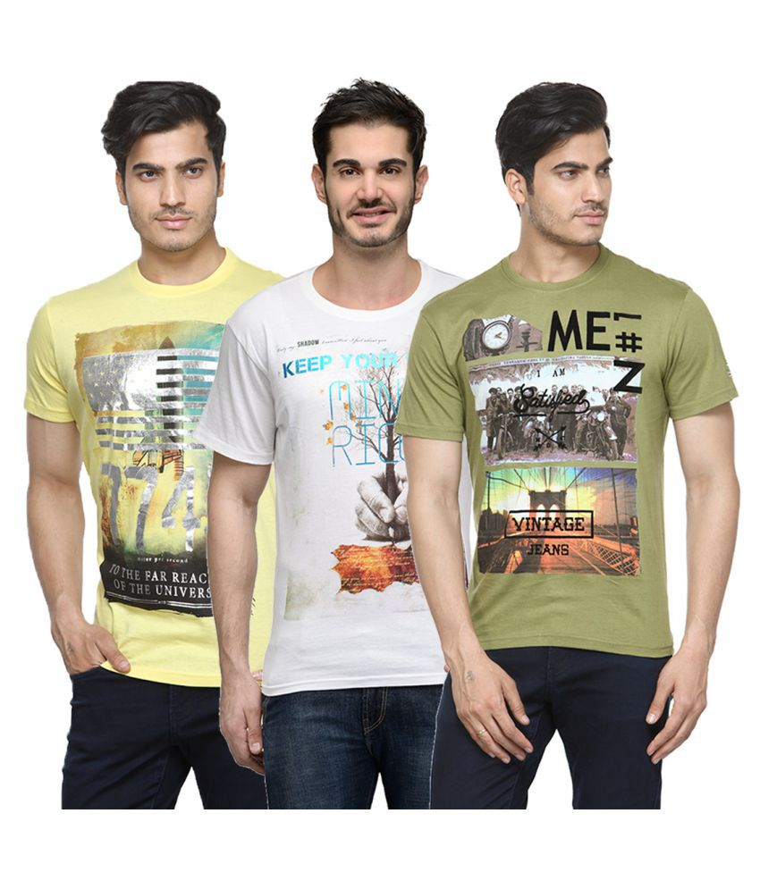 Urban Glory Multi Round T-Shirt Pack of 3