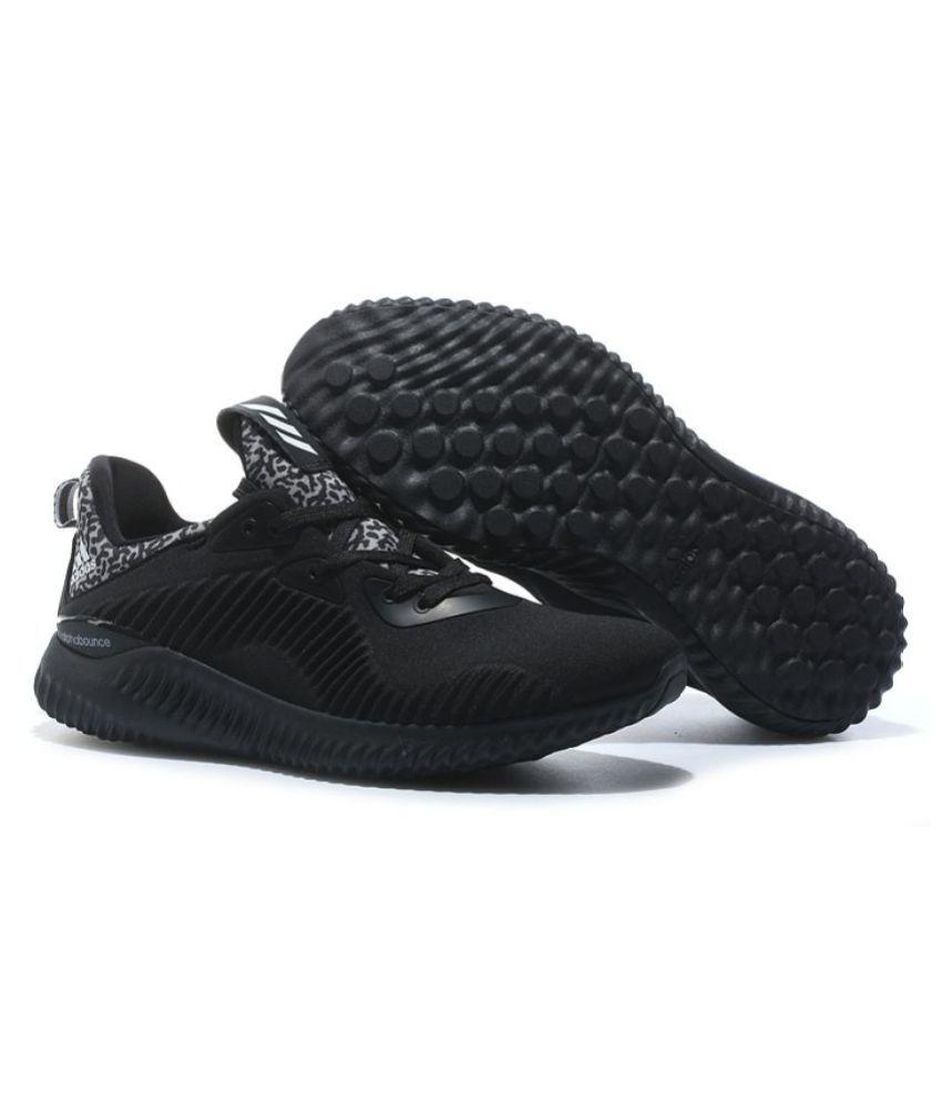 promo code 73012 d1250 Adidas Alpha Bounce Black Running Shoes Adidas Alpha Bounce Black Running  Shoes ...