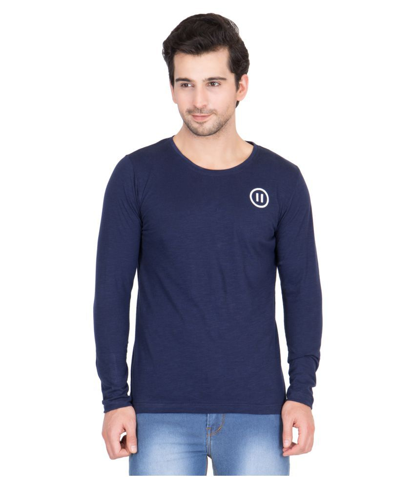 Pause Navy Round T-Shirt
