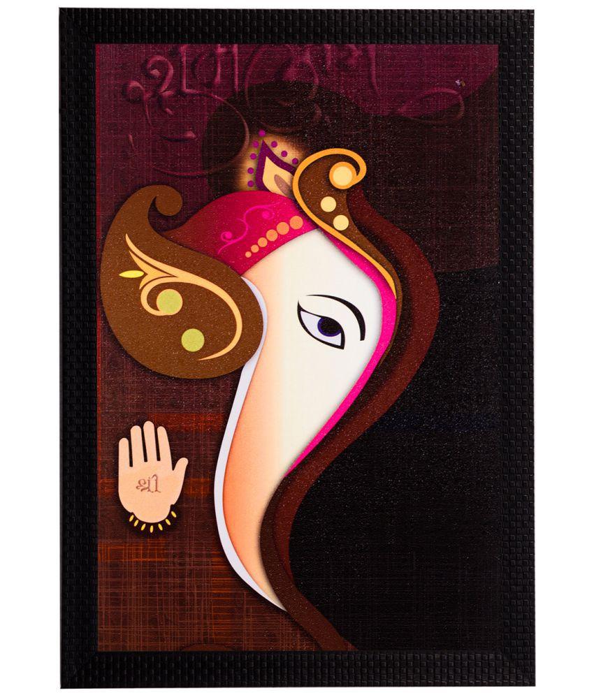 eCraftIndia Framed Satin Matt Textured UV Art Print  Multicolor Wood Painting With Frame Single Piece