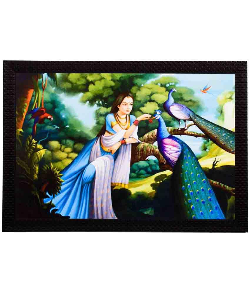 eCraftIndia Framed Satin Matt Textured UV Art Print Wood Painting With Frame Single Piece