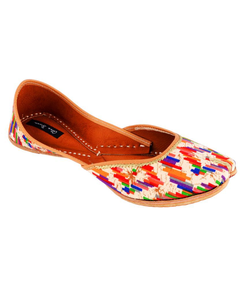 Alex Brown Multi Color Flat Ethnic Footwear