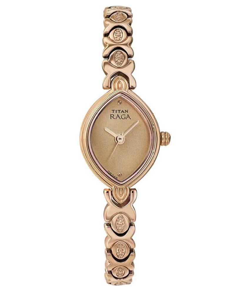 titan rose gold analog watch price in india buy titan