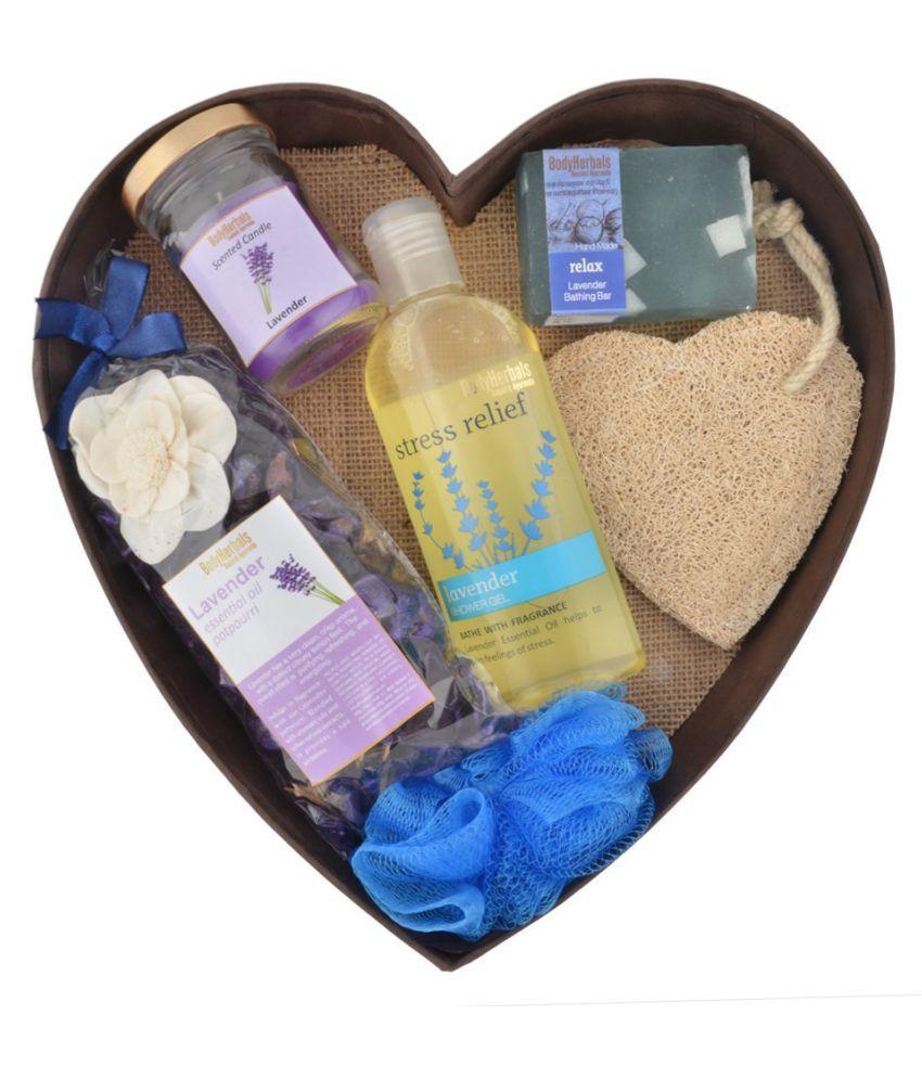 BodyHerbals Lavender Surprise Bathing Set Aromatherapy Bath Kit Pack of 6