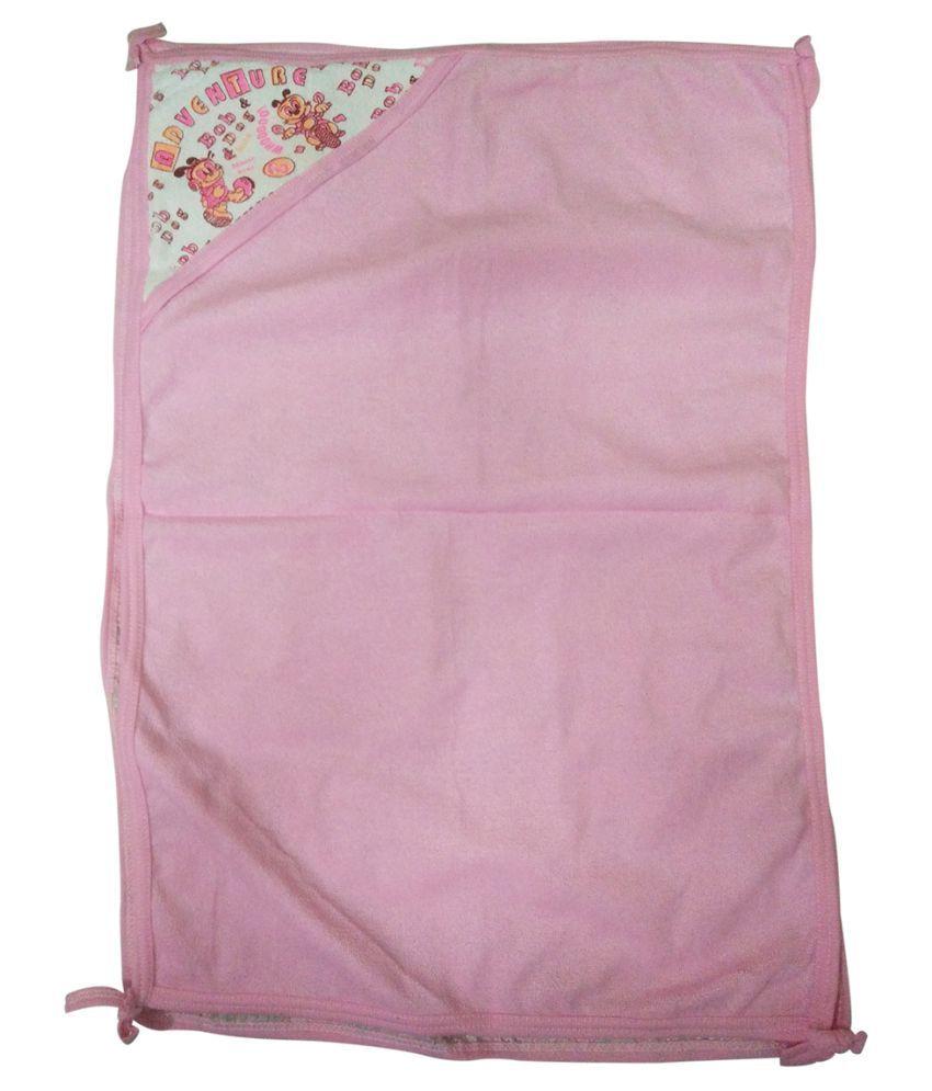 Gold Dust Pink Swaddle cloth Baby Wrap cum blanket ( 75 cm × 50 cm - 1 pcs)