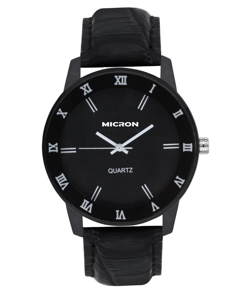 d43ca05fe Micron Black Analog Watch - Buy Micron Black Analog Watch Online at Best  Prices in India on Snapdeal