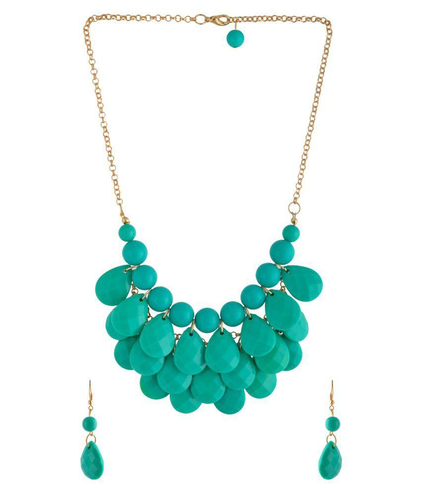 Jewel Treasure Decor Crystal Alloy Necklace Set