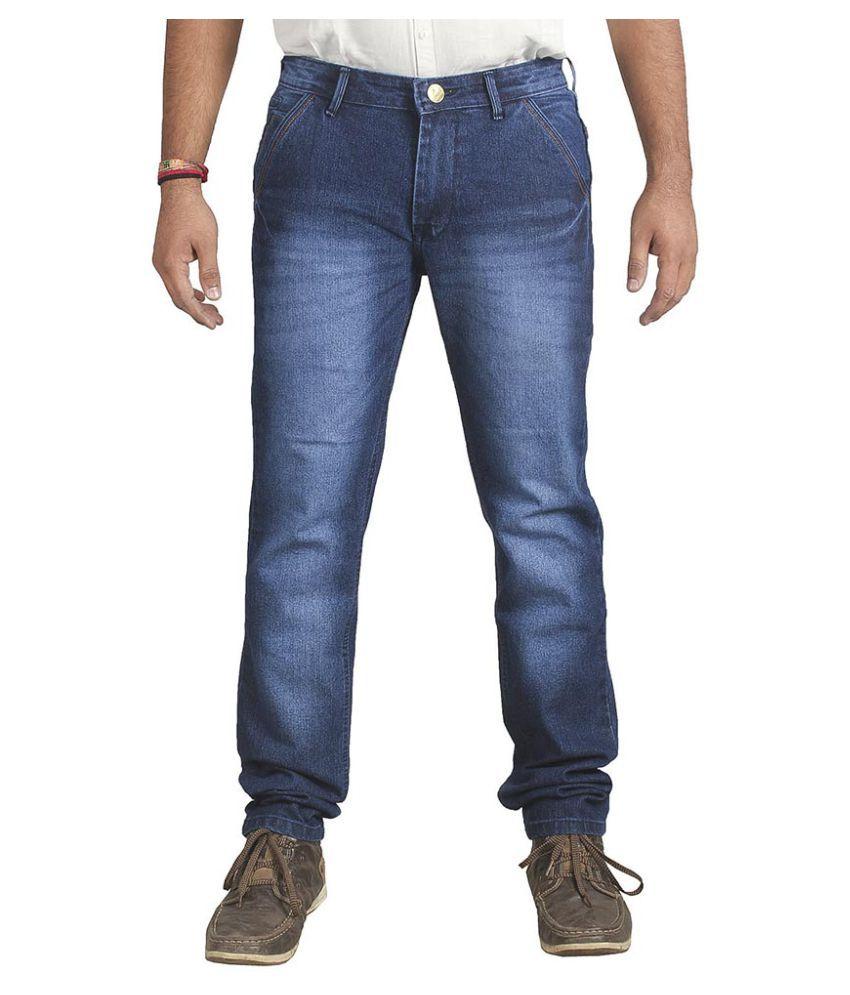 Ragzo Dark Blue Regular Fit Jeans