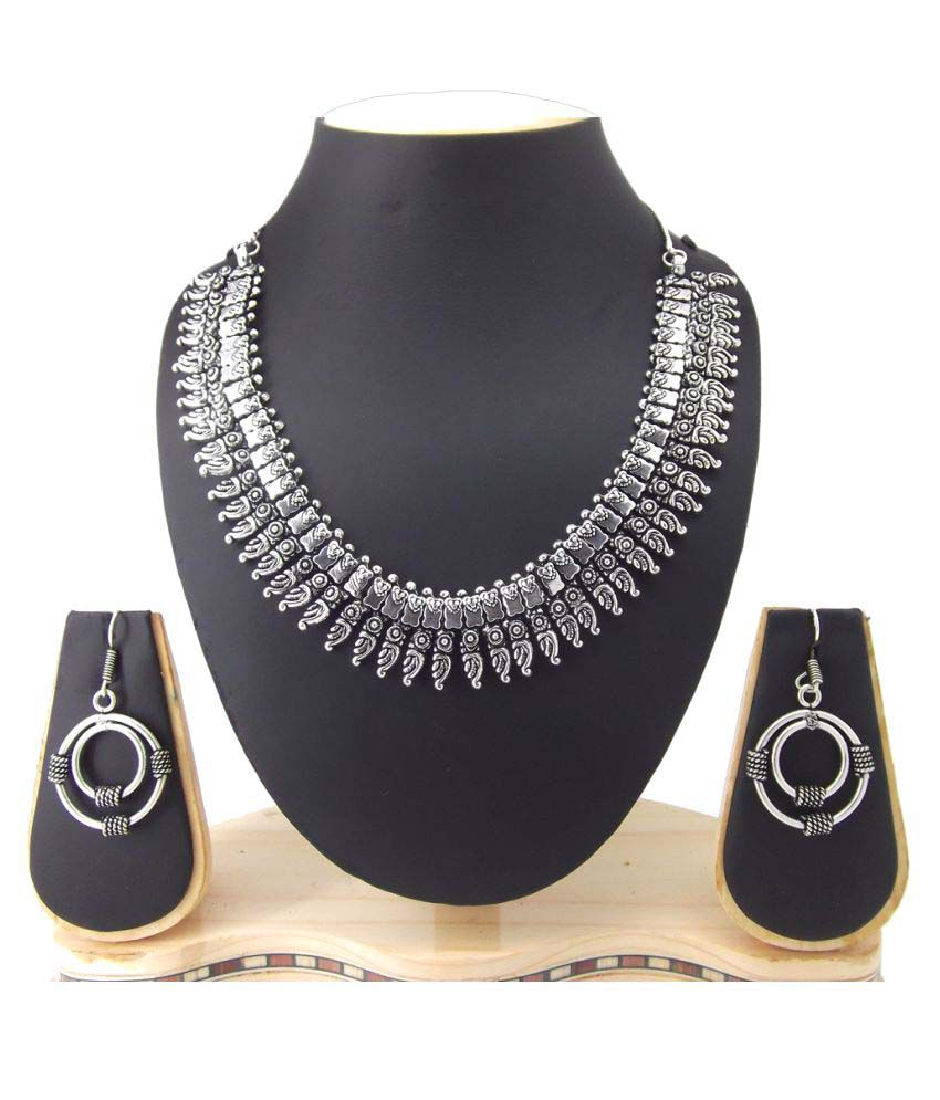 9Blings Silver Plated Elegant Choker Necklace Set