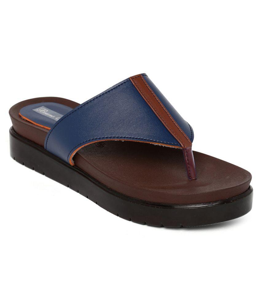 Bruno Manetti Blue Slippers
