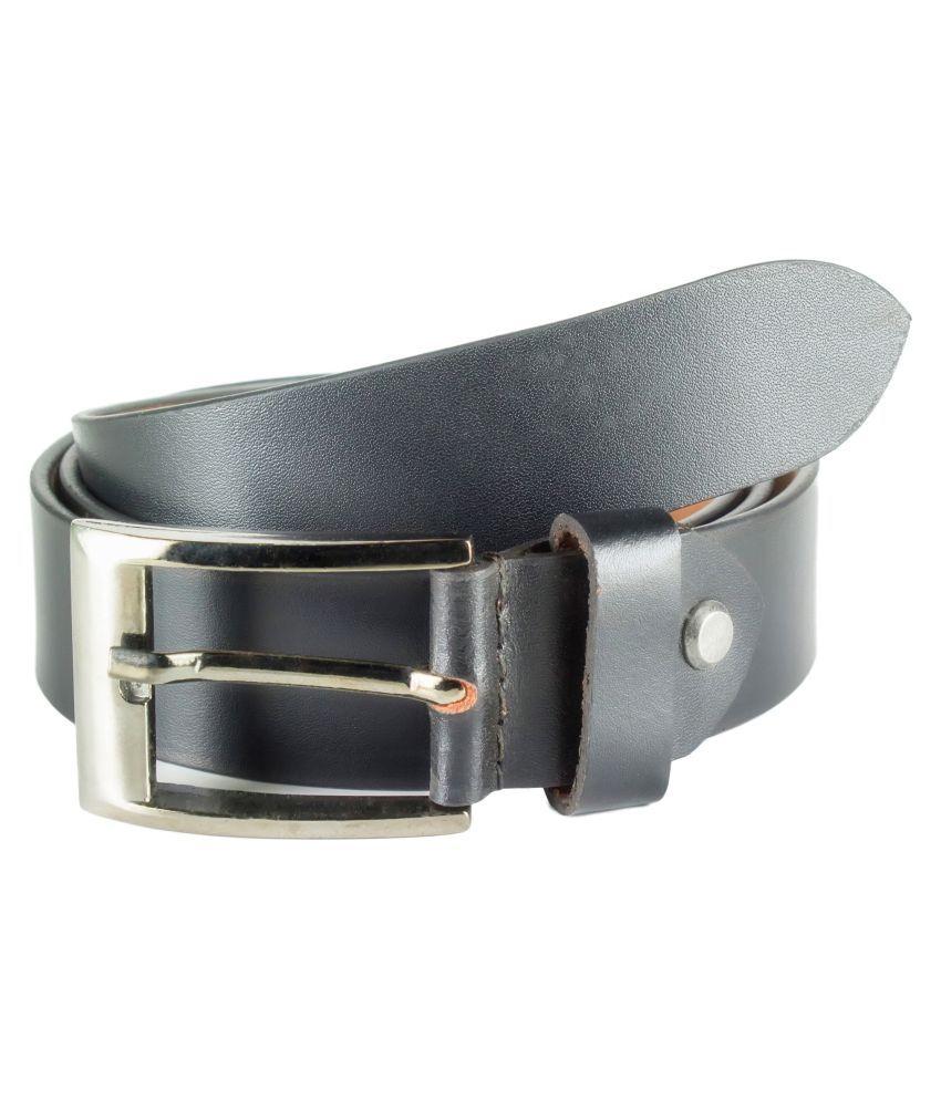 Garodia Leathercraft Black Leather Casual Belts