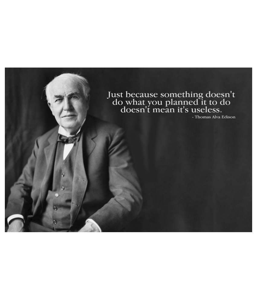Onebuy Thomas Alva Edison Motivational Quotes Paper Wall Poster Without Frame Single Piece