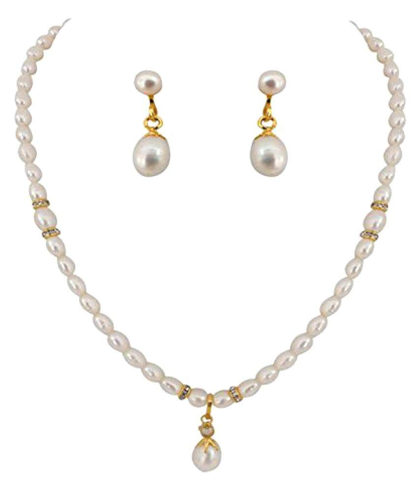 Ratnapearls&collection 9k Rose Gold Necklace Set
