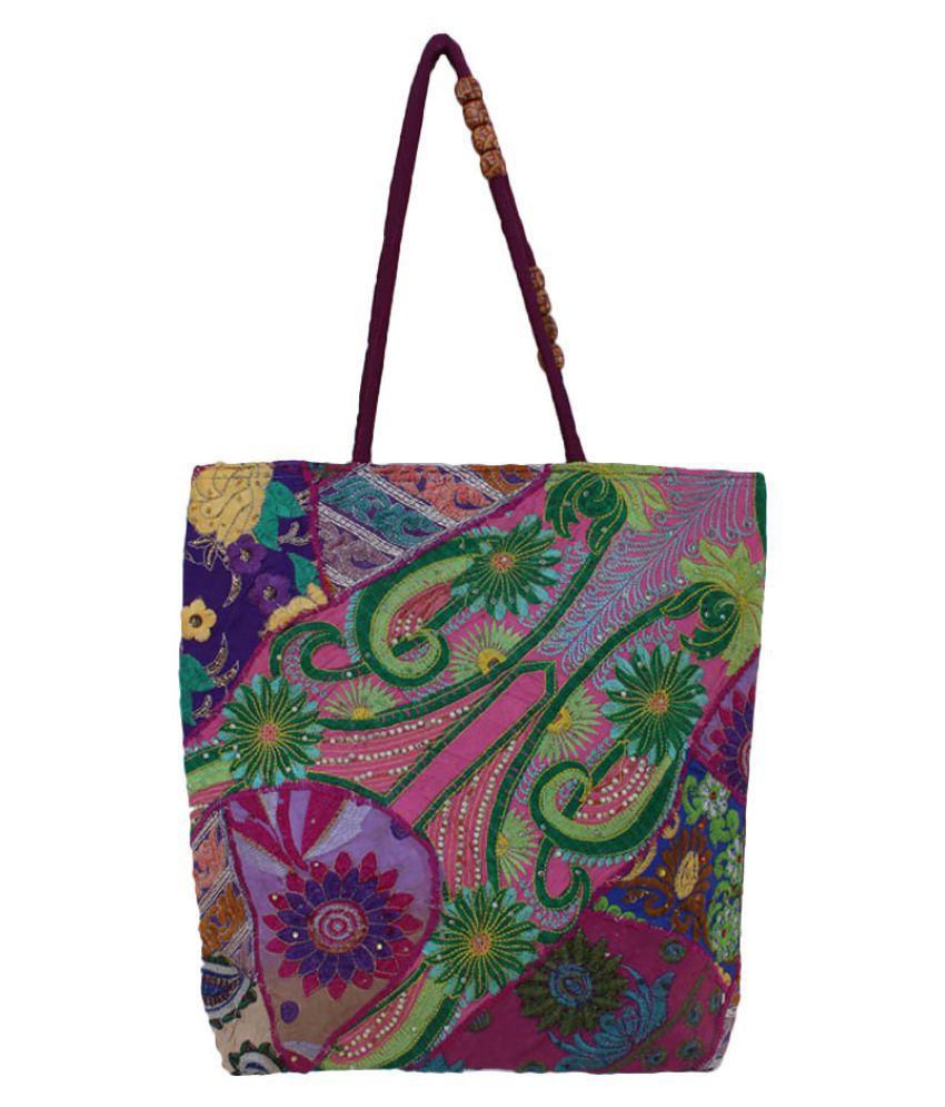 The Living Craft Multi Cotton Shoulder Bag