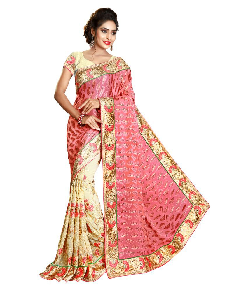 Panash Trends Multicoloured Brasso Saree