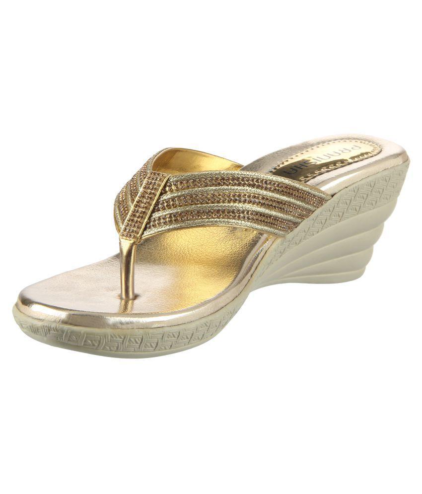 cheap sale outlet Pranisha Footwear Gold Block Heels free shipping original cheap sale outlet locations best seller cheap online MN7Gqd