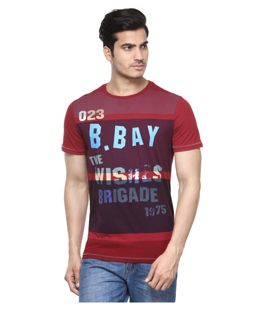 Be Pure Maroon Round T-Shirt