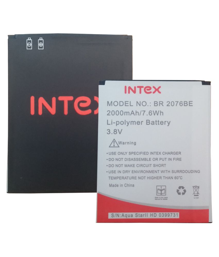Intex Aqua Star 2 HD 2000 mAh Battery by Intex