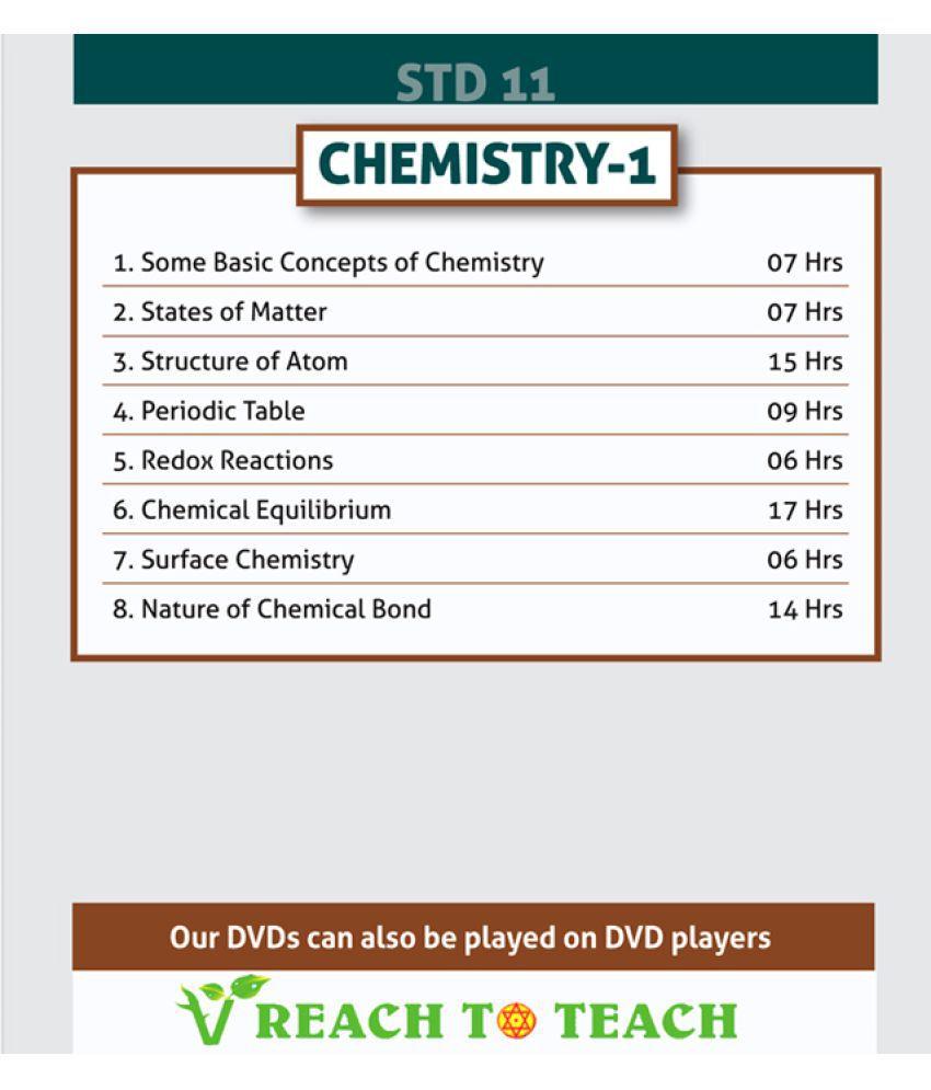 Optimum Educators HD Quality DVD For Std 11 SSC Chemistry Part 1 DVD