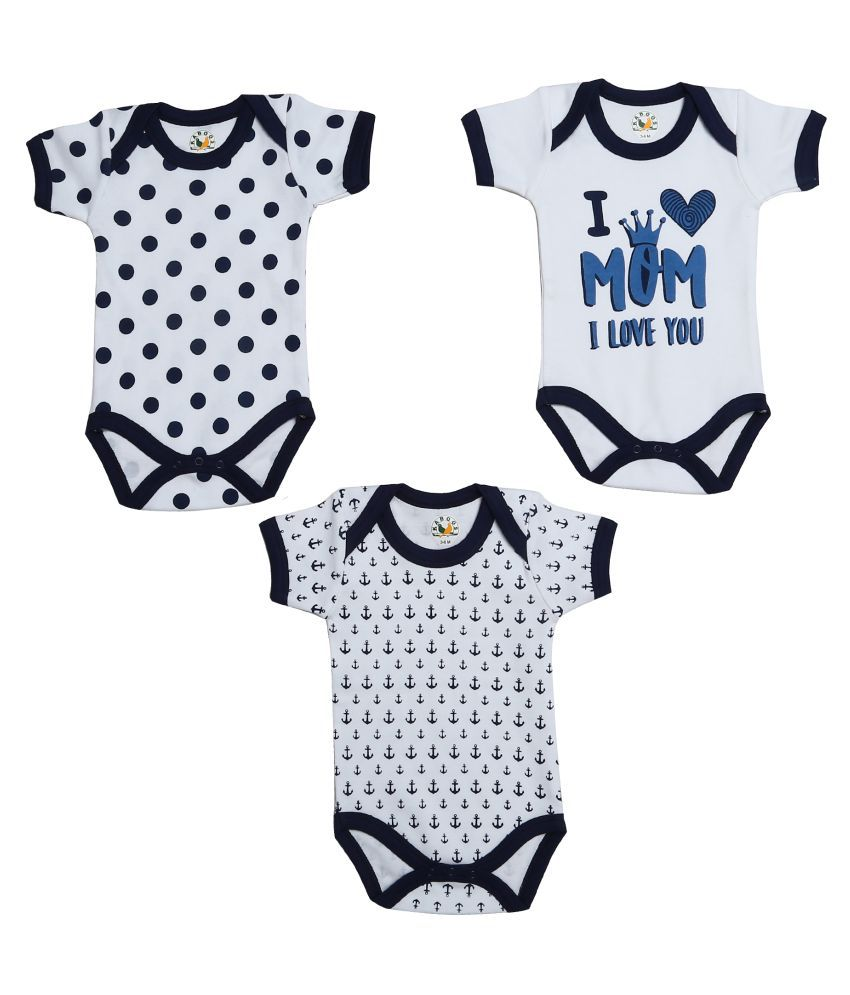 bb13f002e4f4 Kaboos Cotton Rompers for Kids - Set of 3 Baby Combo Dress - Buy Kaboos  Cotton Rompers for Kids - Set of 3 Baby Combo Dress Online at Low Price -  Snapdeal
