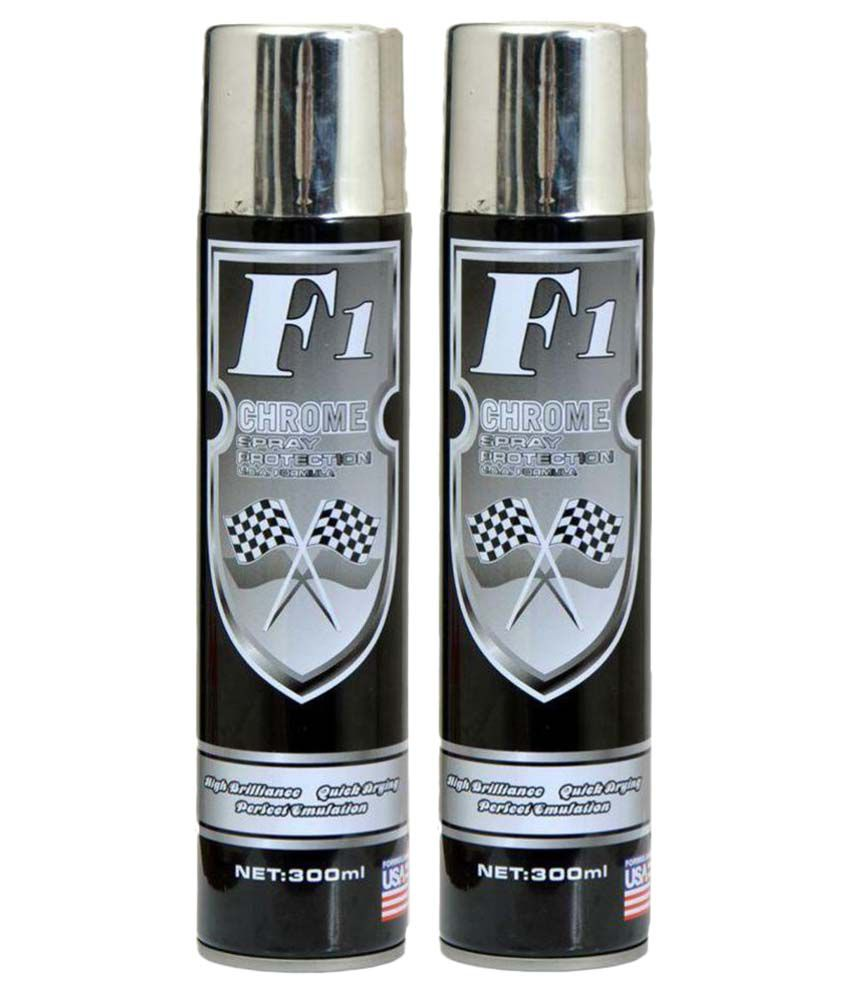 F1 aerosol chrome spray paint pack of 2 buy f1 aerosol for Chrome paint price