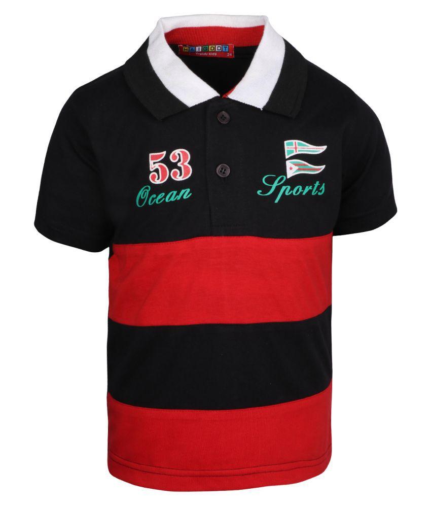 Haig-Dot Multicolor Cotton Polo Tshirt for Boys