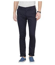 Pepe Jeans Navy Blue Slim Flat Chinos