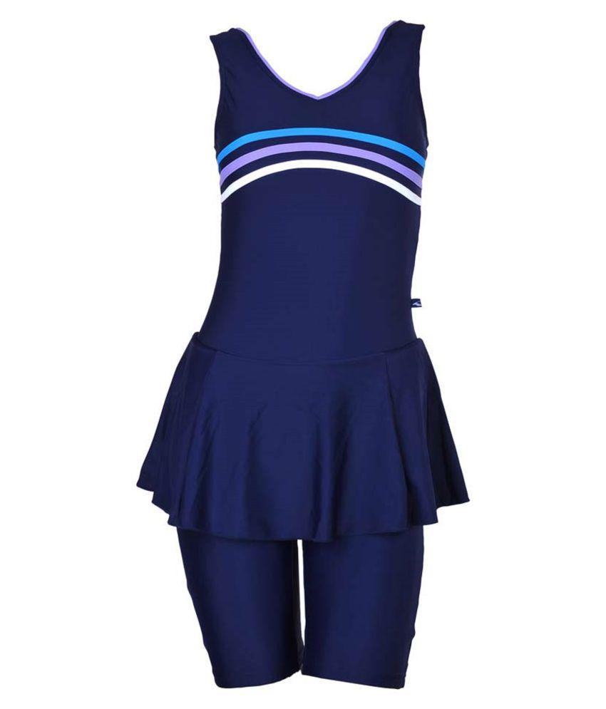 Champ Lycra Women Swimwear Sleeveless Frock with Half Length Shorts/ Swimming Costume