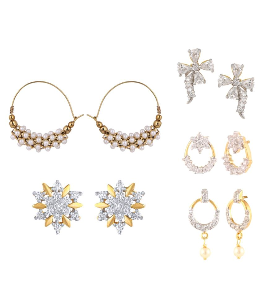 Archi Collection Multicolor Combo of Earring For Girls and Women