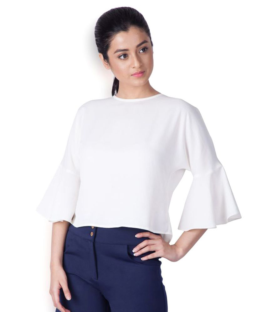 68eca53d6a8 Zink London crepe tops Tops & Tunics Prices in India - Shop Online ...