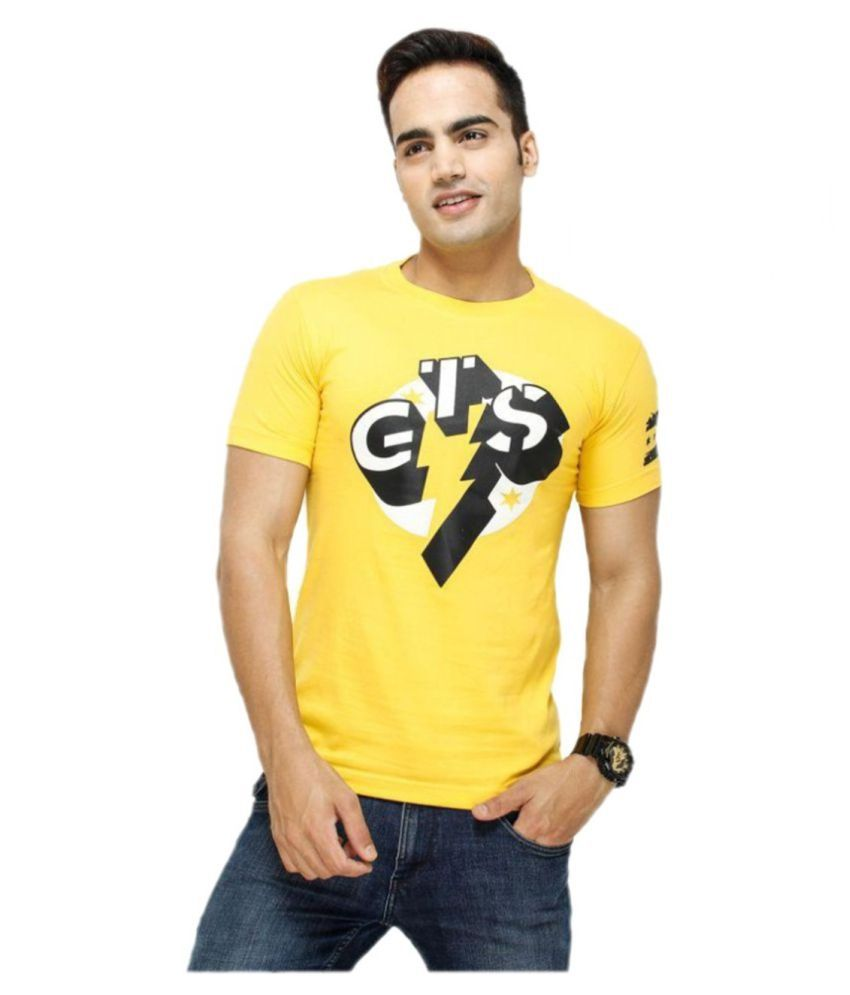WWE Yellow Round T-Shirt