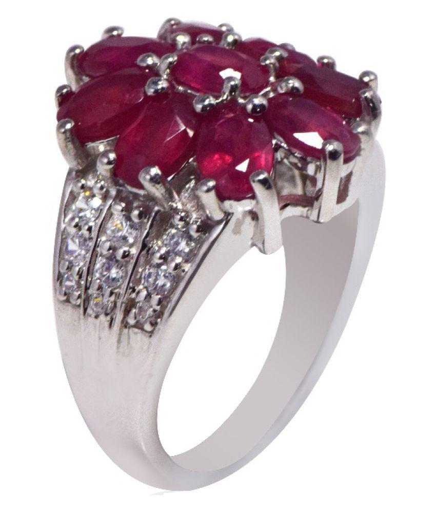 Shine Jewel 92.5 Silver Cubic Zirconia Ring