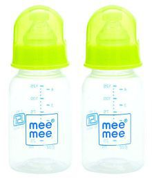 Mee Mee Green Feeding Bottle Pack Of 2 - 125 Ml