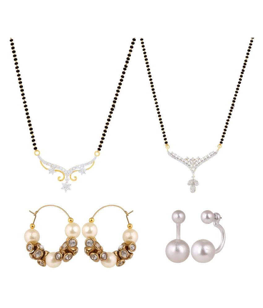 Archi Collection Set of 2 Mangalsutras and 2 Pair of Earrings