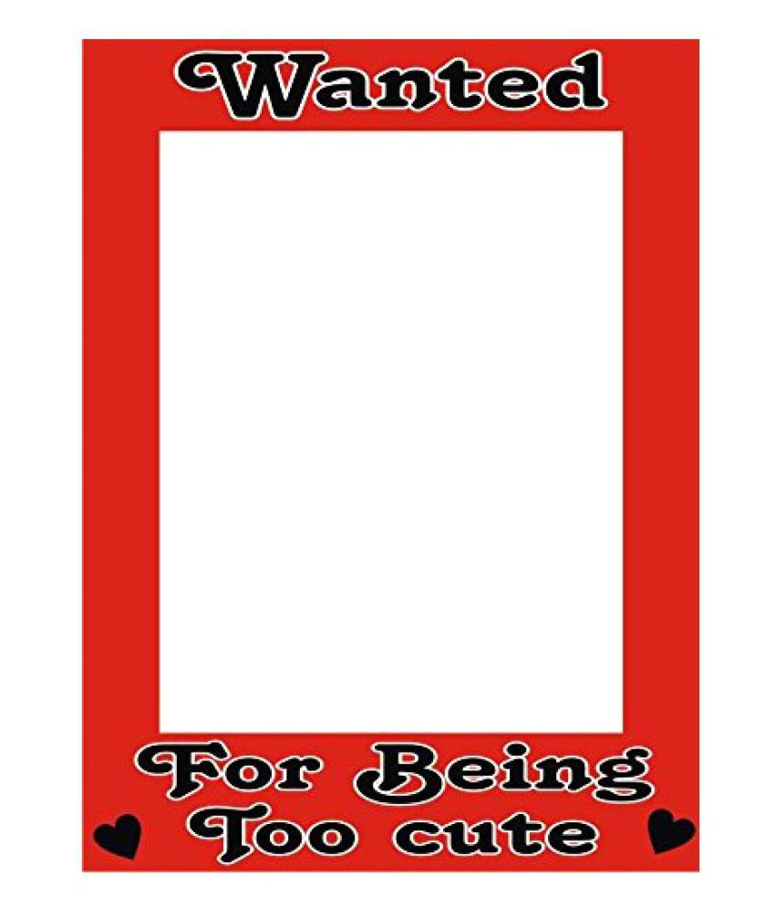 Theme My Party Wanted for Being Too Cute Photo Booth Frame - Buy ...