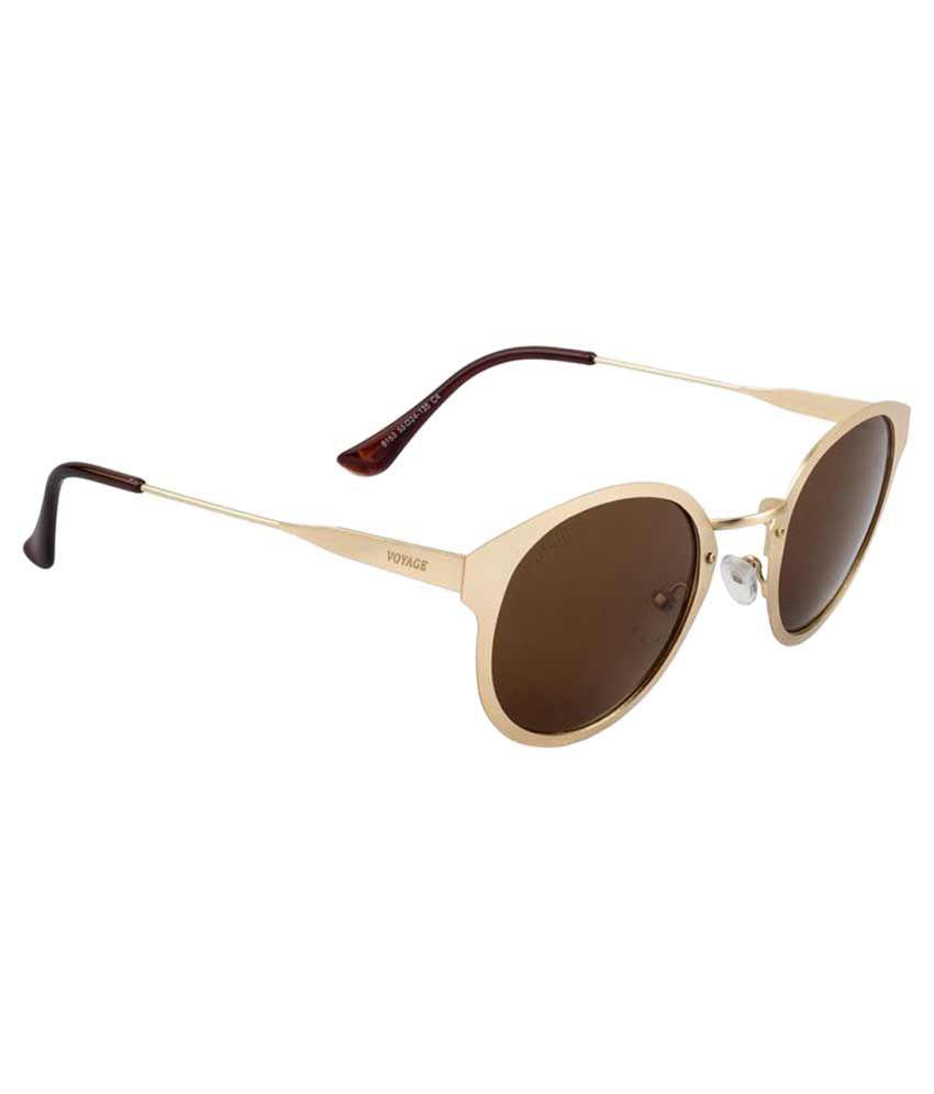 Voyage Brown Round Sunglasses ( 8153MG11764 )
