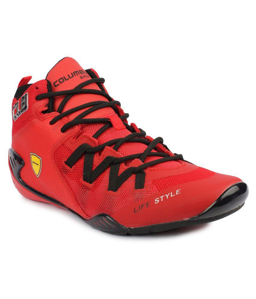 Columbus Optus Red Basketball Shoes