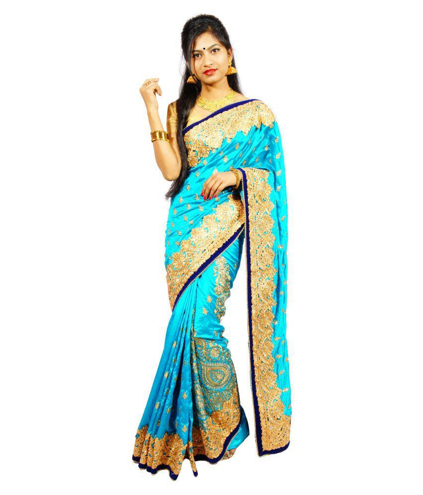 Siddheswari Bastralaya Blue Dupion Silk Saree